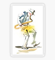 Saxophone Musician art Transparent Sticker