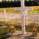 Gedächtnisgarten Mit Weißem Kreuz von Marie Sharp
