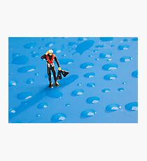 The Diver Among Water Drops Photographic Print