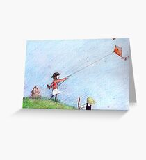 A Windy day Greeting Card
