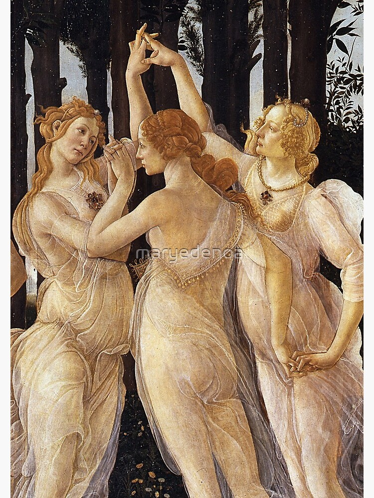 La Primavera Las Tres Gracias Sandro Botticelli Cuaderno De Espiral