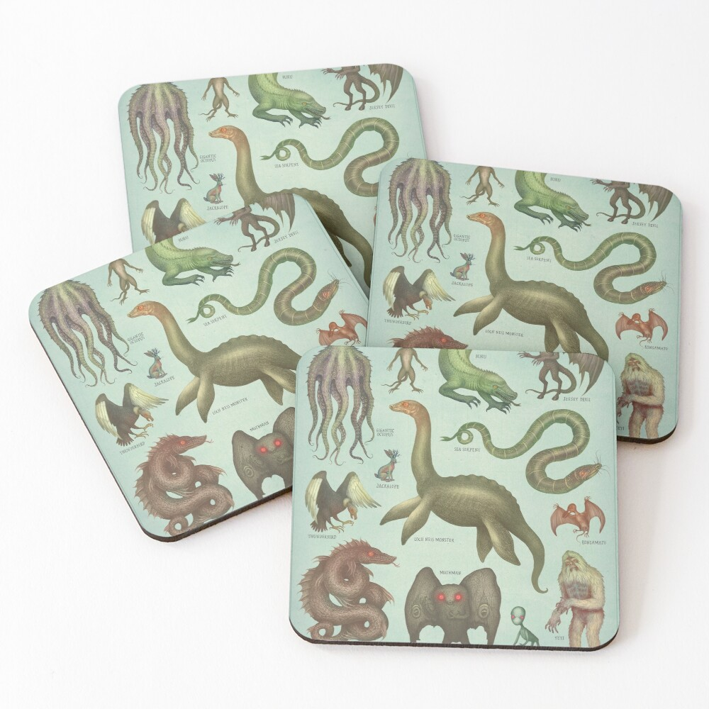 Cryptids Coasters (Set of 4)