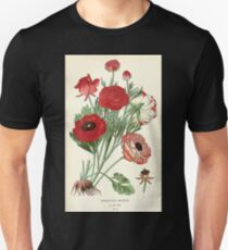 Favourite flowers of garden and greenhouse Edward Step 1896 1897 Volume 1 0030 Ranunculus Asiaticus Unisex T-Shirt