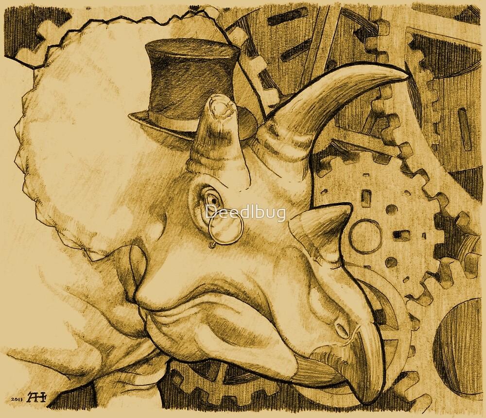 Lord Triceratops - Orange Tone by Deedlbug
