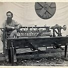 Vintage Cabinet Card - Civil War Era Wood Turner And His Cat Head & Tailstock Lathe by toolemera