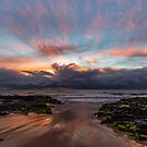 Wet Sand And A Coloured Sky by robcaddy
