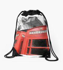 Red London Drawstring Bag