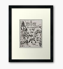 Prydain Map Framed Print