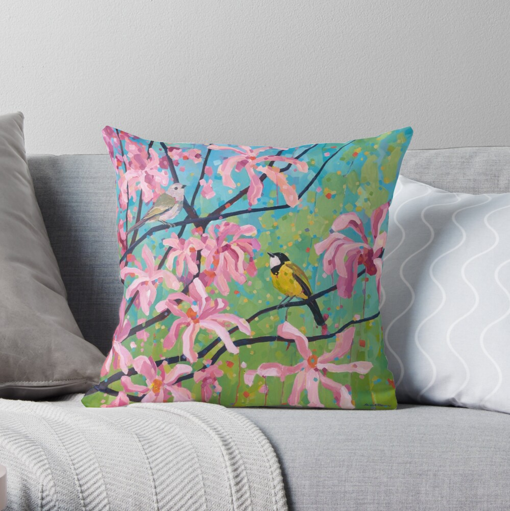 A New Place to Sing Throw Pillow