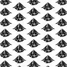Black Patterned Alien Fair Logo by landonrwilson