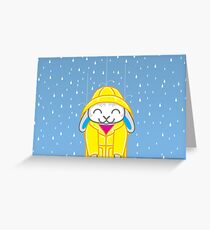 Binky-ing in the Rain Greeting Card
