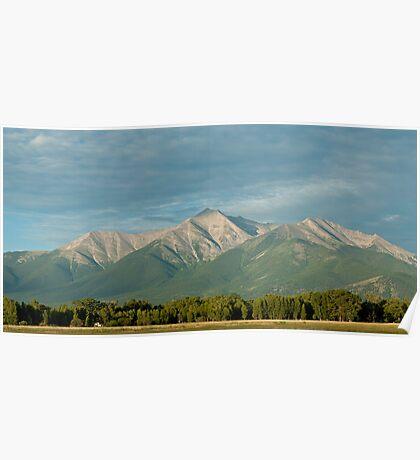 Mount Princeton, Colorado At Sunrise Poster