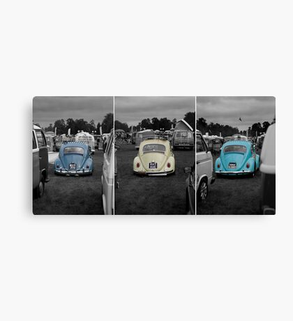 VW Beetle triptych Canvas Print