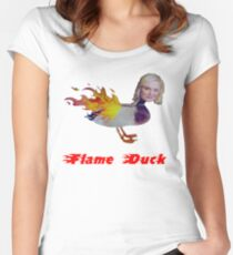Parks and Recreation Flame Duck Women's Fitted Scoop T-Shirt