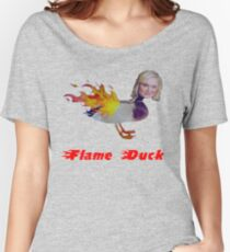 Parks and Recreation Flame Duck Women's Relaxed Fit T-Shirt