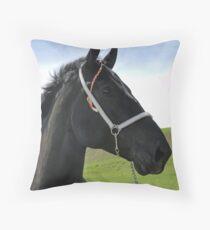 Classic Percheron Throw Pillow