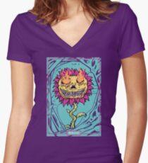 Doom Flower Fitted V-Neck T-Shirt