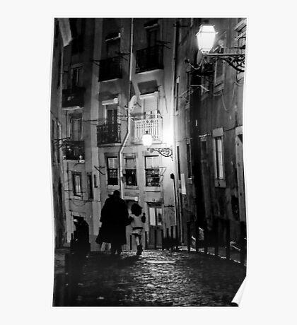 Little dark street Poster