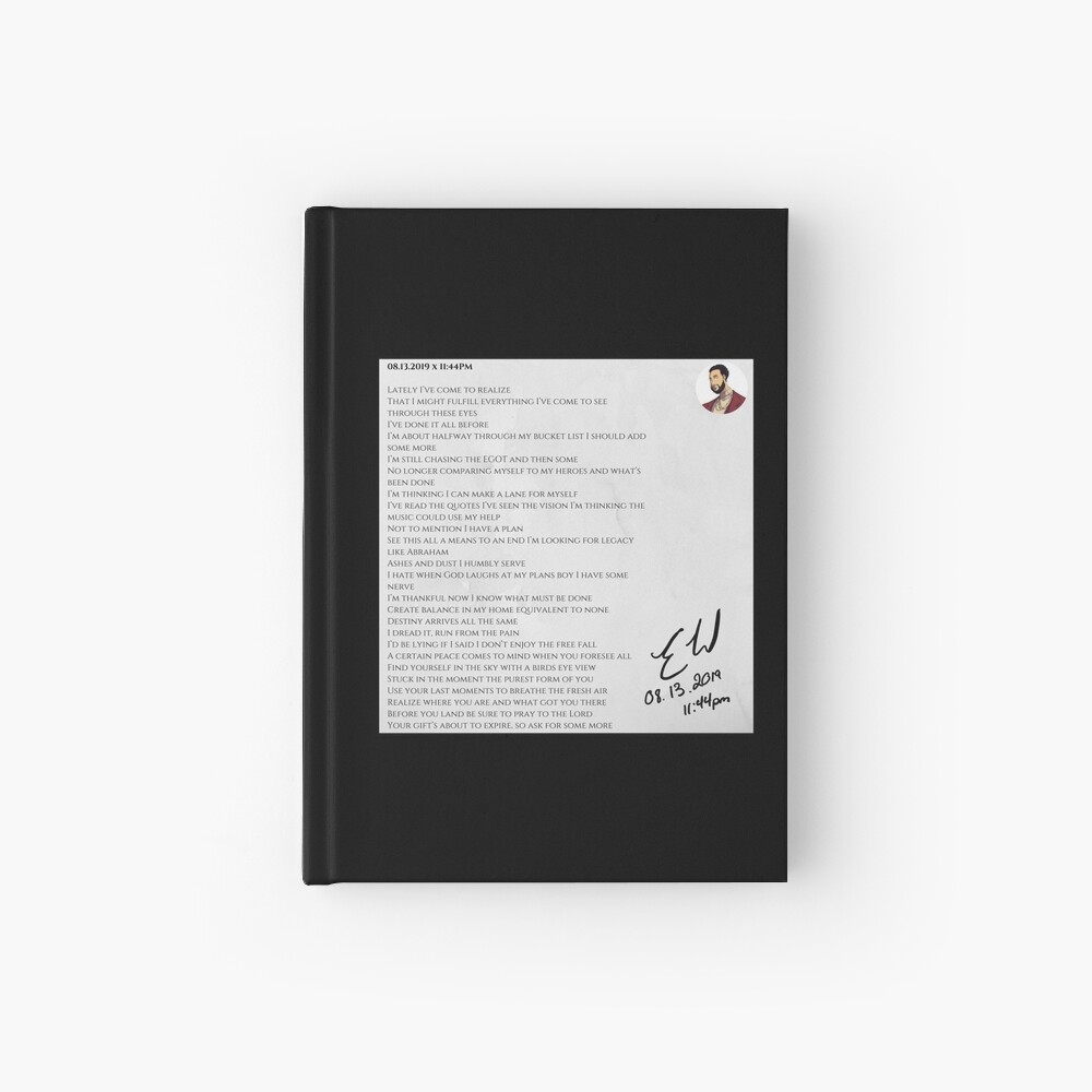 08.13.2019 x 11:44PM Hardcover Journal