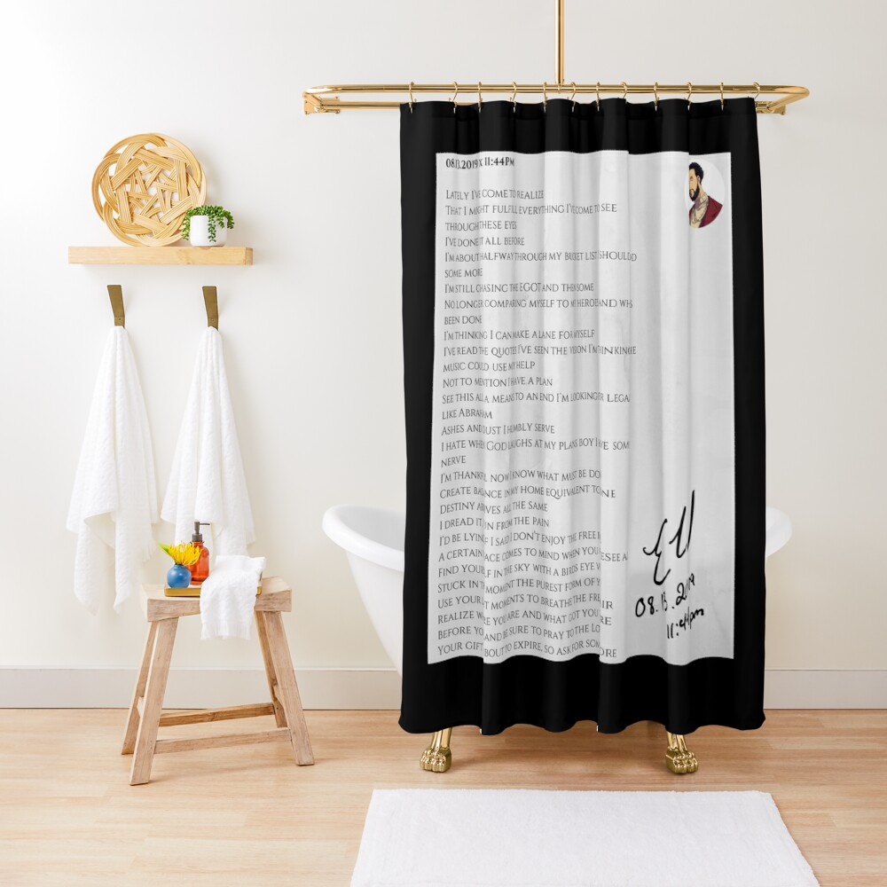 08.13.2019 x 11:44PM Shower Curtain