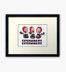 Splatoon! EXTERMINATE, EXTERMINATE! Octobot Framed Print
