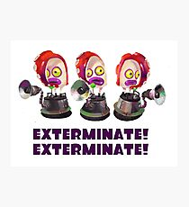 Splatoon! EXTERMINATE, EXTERMINATE! Octobot Photographic Print