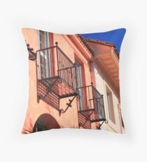 Santa Barbara Balconies Throw Pillow