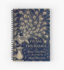Pride and Prejudice Peacock Cover Spiral Notebook
