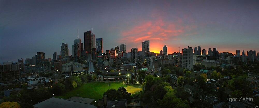 Toronto Downtown in October by Igor Zenin