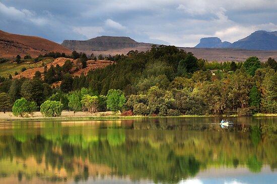 Naverone Lake, Drakensberg, South Africa by Sharon Bishop