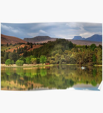 Naverone Lake, Drakensberg, South Africa Poster