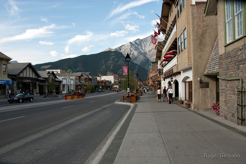 Main Street in Banff by Roger Bernabo