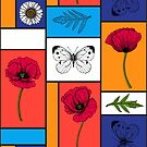 Poppies in colorful boxes by Katerina Kirilova