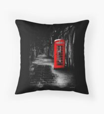 London Calling - Red British Telephone Box Throw Pillow