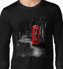 London Calling - Red British Telephone Box Long Sleeve T-Shirt