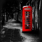 London Calling - Red British Telephone Box by Mark Tisdale