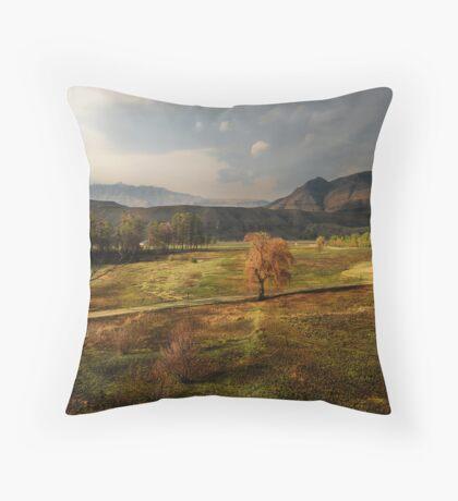 Lake Naverone, South Africa Throw Pillow