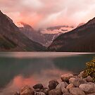 After Dawn at Lake Louise by Roger Bernabo