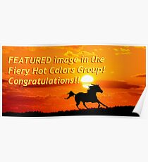 Congrats banner for Fiery Hot Colors Group Poster