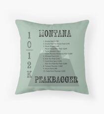 Montana Peak Bagger Throw Pillow