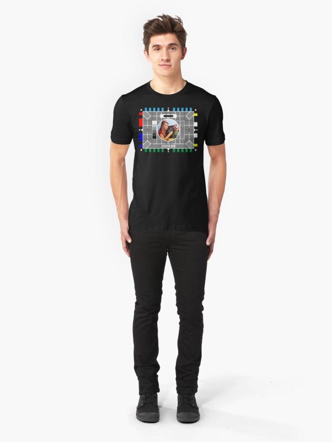 Alternate view of NDVH Testcard F BBCtv Slim Fit T-Shirt