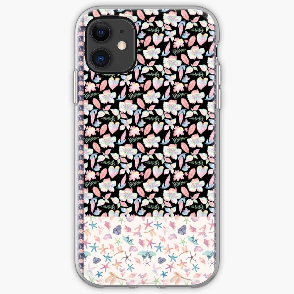 Floral tropical sunset iPhone Soft Case