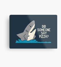 Hungry Shark Metal Print