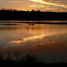 Kayak at Dusk, Lake Boondooma by aussiebushstick