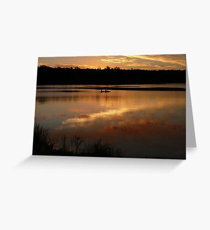 Kayak at Dusk, Lake Boondooma Greeting Card