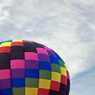 Partial Balloon in the New Mexico Sky by Roger Bernabo
