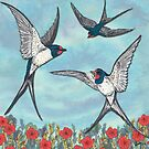 Summer Swallows by lottibrown