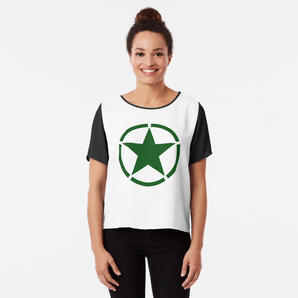WWII Jeep Star symbol US Military Army Long Sleeve T-Shirt