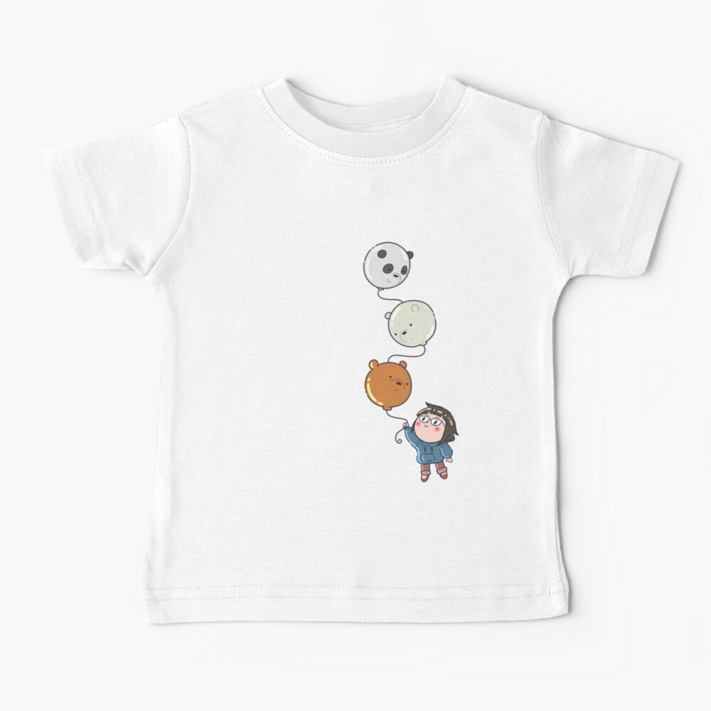 We Bare Bears balloon Baby T-Shirt