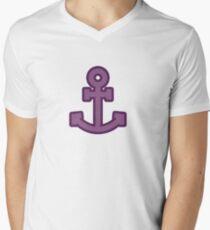 Purple Anchor Men's V-Neck T-Shirt